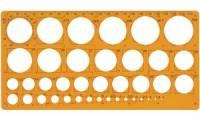 Maped Kreisschablone, 1 - 35 mm, 39 Kreise