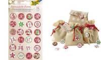 folia Adventskalender-Buttons Classic, aus Blech, 1 - 24