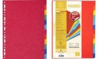 EXACOMPTA Karton-Register, DIN A4, 12-teilig, Promopack 1+1