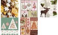PAPSTAR Weihnachts-Motivservietten Fancy Trees