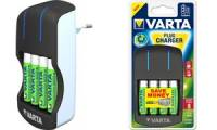 VARTA Ladegerät Plug Charger, mit 4 x AA Akkus 2.100 mAh
