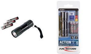 Ansmann led taschenlampe action 9 mit batterien 5016243