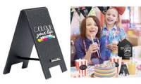 Securit Tisch-Kreidetafel MINI Kundenstopper, schwarz