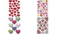 HERMA Sticker MAGIC Rote Herzen, Stone