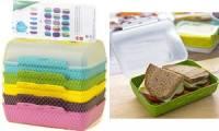 emsa Brotdose VARIABOLO Clipbox Set, 6-teilig, farbig