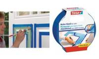 tesa Maler Abdeckband für Lacke, 30 mm x 25 m, blau
