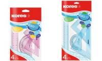 Kores Geometrie-Set GEO30, 4-teilig, farbig sortiert