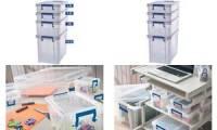 Fellowes Aufbewahrungsbox ProStore Bonus Set 5, 4er-Set
