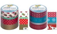 folia Deko-Klebeband Washi-Tape WEIHNACHTEN RETRO, 4er Set