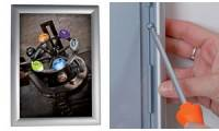 ALBA Plakatrahmen CLICA4, DIN A4, Aluminium-Klapprahmen