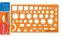 Maped Zeichenschablone NORMOGRAPHE TECHNIC, orange