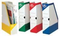 FAST Archiv-Stehsammler, Karton, weiß/rot, mit Grifflöchern