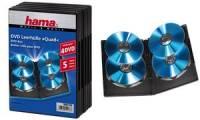 hama DVD-Leerhülle Quad Box, Jewel Case, schwarz