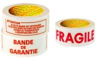 3M Scotch Ruban adhésif FRAGILE, 50 mm x 100 m,blanc/rouge