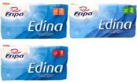 Fripa Toilettenpapier Edina, 2-lagig, hochweiß