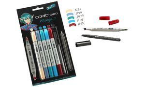 22075557 4013695261416 COPIC Hobbymarker ciao 5+1 Set Manga 2