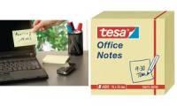tesa Office Notes Haftnotiz Würfel, 75 x 75 mm, gelb