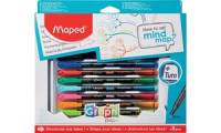 Maped Zeichenset Graph'Peps How to set mind map, 8-teilig