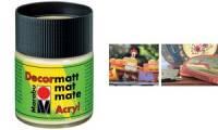 Marabu Acrylfarbe Decormatt, ultramarinblau, 50 ml, Glas