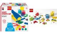 Marabu KiDS Spielknete-Set Werkzeug Set, 4er Basisfarben