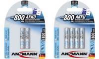 ANSMANN NiMH Akku maxE, Micro (AAA) 800 mAh, 2er Blister