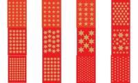 HERMA Weihnachts-Sticker DECOR Sterne, 6 mm, gold