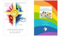 SUSY CARD Kommunionskarte Kreuz, Engel