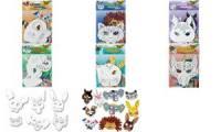 folia Kindermasken Drache, aus Pappe, weiß