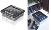 smartstore Aufbewahrungsbox Deco 12 - Schuh, schwarz