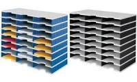 styro Grundeinheit styrodoc trio, 24 Fächer, blau/grau