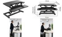 UNiLUX Sitz-Steh Arbeitsplatz ERGODESK 2, schwarz