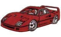 KWM Applikation Sportauto, rot