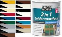SUPER NOVA Seidenmattlack 2in1, silbergrau, 375 ml