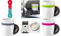 emsa Isolierbecher TRAVEL CUP CERAMICS, 0,2 L., weiß/limette