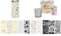 folia Relief-Sticker GANZJAHR, Blattformat: 100 x 240 mm