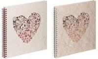 PAGNA Hochzeits-Spiralalbum sweet heart, rot, 40 Seiten