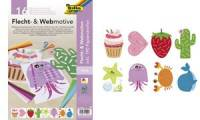 folia Flecht- & Webmotive Set, DIN A4, 16 Blatt