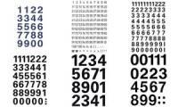 HERMA Zahlen-Sticker 0-9, Folie schwarz, Höhe: 20 x 18 mm