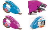 tesapack Handabroller pack 'n' go, pink, bestückt