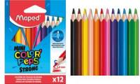 Maped Dreikant-Buntstift COLOR'PEPS STRONG MINI, 12er Etui