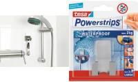 tesa Powerstrips Rasierhalter WAVE WATERPROOF, Edelstahl