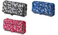herlitz Stifte-Tasche Geometric Blue, mit Netztasche