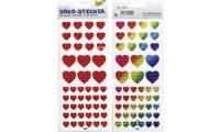 folia Holographie-Sticker Herzen, farbig sortiert