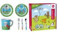 emsa Kindergeschirr Starter-Set FARM FAMILY, 6-teilig, grün