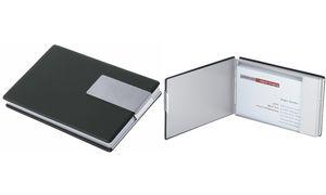 Wedo Visitenkartenbox Good Deal Aluminium Pvc Schwarz