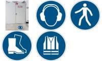 DURABLE Sicherheitskennzeichen Fußschutz benutzen