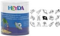 HEYDA Motivstempel-Set Piraten & Raumfahrer, Runddose