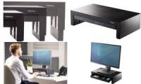 Fellowes Monitorständer Designer Office Suites, schwarz