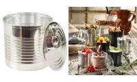 PAPSTAR Fingerfood-Becher Tin can, 220 ml, silber