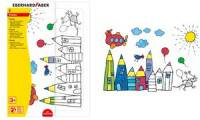 EBERHARD FABER Puzzle-Set zum Ausmalen, inkl. Buntstifte